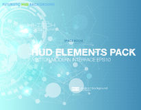 Free Abstract Technology Vector Background. HUD UI Communication Concept Banner In Blue Background Modern Royalty Free Stock Images - 87829139