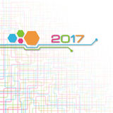 Abstract technology vector background for 2017 year Stock Photos