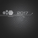 Abstract technology vector background for 2017 year Stock Image