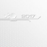 Abstract technology vector background for 2017 year Royalty Free Stock Photos