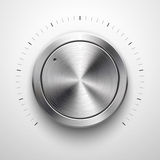 Abstract Technology Volume Knob with Metal Texture Stock Photo