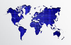 Abstract Technology with world map Stock Images