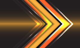 Free Abstract Technology Yellow Arrow Direction Speed Gold Light Design Modern Futuristic Background Vector Stock Photos - 187210373