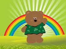 Abstract  with teddy bear and rainbow Stock Photo