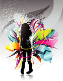 Abstract teen illustration Stock Photo