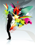Abstract teen illustration Royalty Free Stock Images