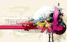 Abstract teen illustration Stock Images