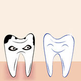 Abstract teeth cartoon dental background Stock Images