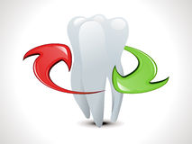 Abstract teeth protection template Stock Photo
