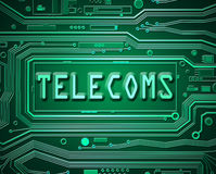 Abstract telecoms concept. Abstract style illustration depicting printed circuit board components with a telecoms concept stock illustration
