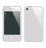 Abstract telefoonsymbool witte kleur Royalty-vrije Stock Fotografie