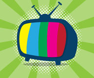 Abstract television icon with half tone background. Vector illustration Royalty Free Stock Image