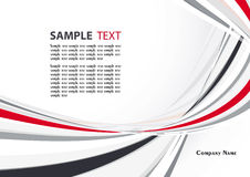 Abstract template. Abstract backgroung with red and grey wave. Vector Royalty Free Stock Photography