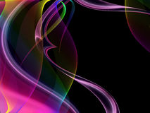 Abstract template. Abstract wave template on a black background royalty free illustration