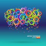 Abstract template background with hexagon shapes Royalty Free Stock Photos