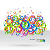 Abstract template background with hexagon shapes. Modern geometric shapes background. Compositions of colored hexagons. Vector illustration. eps10 Royalty Free Stock Photos