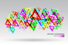 Abstract template background with triangle shapes Stock Photos