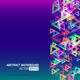 Abstract template background with triangle shapes Royalty Free Stock Photos