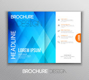 Abstract template brochure design with geometric background Royalty Free Stock Image