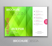 Abstract template brochure design with geometric Stock Images