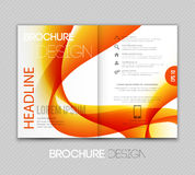 Abstract template brochure design  with orange wave. Vector illustration Abstract template brochure design with orange wave Royalty Free Stock Image