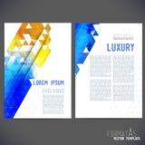 Abstract template design, brochure vector illustration