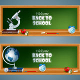 Abstract template for Education, set of banner with school books Royalty Free Stock Images