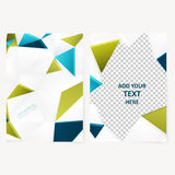 Abstract  template geometric flyer Stock Image