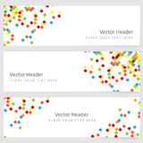 Abstract template horizontal banner Stock Image