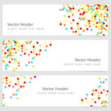 Abstract template horizontal banner Stock Photography