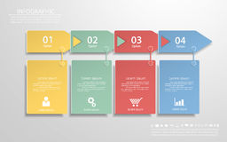 Abstract template with icons set for business design, reports, s Royalty Free Stock Photo