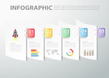 Abstract template infographic. can be used for workflow, layout, diagram Stock Images