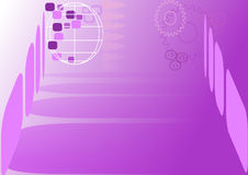 Abstract template in purple Royalty Free Stock Photo