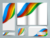 Abstract template set for design Stock Photography