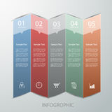 Abstract template 5 steps for business design, report. Diagram Royalty Free Illustration