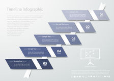 Abstract template 5 steps for business design, reports, step presentation. Number options Vector Illustration