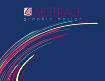 Abstract template variegated strips. Vector design of poster. Abstract template of page with variegated strips. Vector graphic design of poster layout vector illustration
