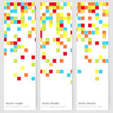 Abstract template vertical banner. With color square pattern Royalty Free Stock Photo