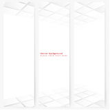 Abstract template vertical perspective banner. Set of abstract template vertical perspective banner with square tiles Stock Image