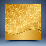 Gold christmas abstract background stock illustration