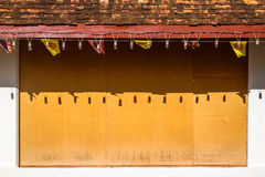 Abstract temple wall Stock Images