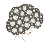 Abstract  tender flowers hair - Illustration Stock Photography
