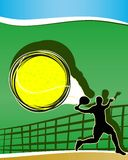 Abstract tennis background. Royalty Free Stock Image