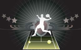 Abstract tennis background. Royalty Free Stock Photo