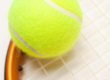 Abstract Tennis Ball, Racquet and Strings Stock Photos