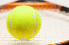 Abstract Tennis Ball, Racquet and Strings Royalty Free Stock Photo