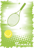 Abstract tennis banner.Green background.Green tennis court with Royalty Free Stock Photography