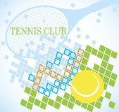 Abstract tennis banner Royalty Free Stock Images