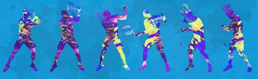 Abstract tennis player royalty free stock photography