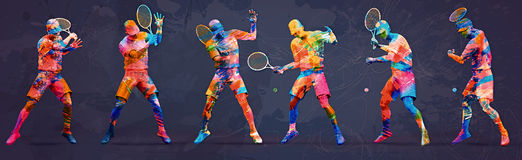 Abstract tennis player. Design illustration Royalty Free Stock Photo